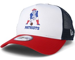 New England Patriots Throwback Trucker White Adjustable - New Era