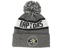 Toronto Raptors Marl Knit Grey Pom - New Era