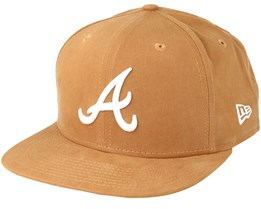 Atlanta Braves Lightweight Ess 9Fifty Rust Snapback - New Era