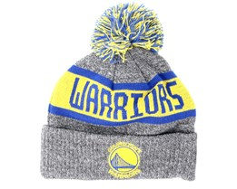 Kids Golden State Warriors Junior Marl Knit Gray Pom - New Era
