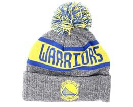 Golden State Warriors Junior Marl Knit Gray Pom - New Era