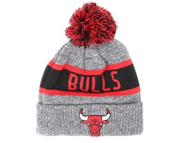 Kids Chicago Bulls Junior Marl Knit Gray Pom - New Era