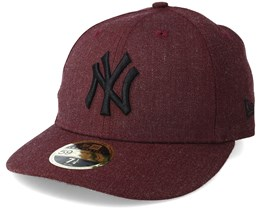 New York Yankees Heather Low Profile 59Fifty Maroon Fitted - New Era