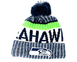 Seattle Seahawks Sport Knit Navy Pom - New Era