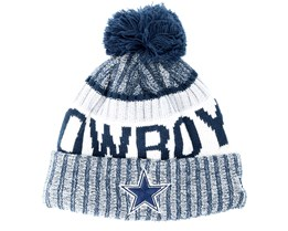 Dallas Cowboys Sport Knit Navy Pom - New Era