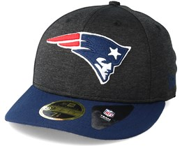 New England Patriots Shadow Tech Low Profile 59Fifty Heather Grey Fitted - New Era