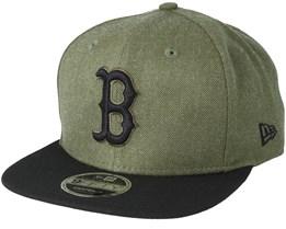 Boston Red Sox Season Heather 9Fifty Olive Snapback - New Era