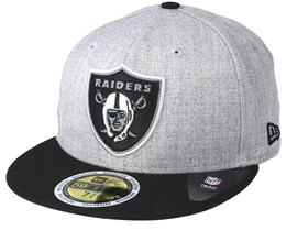 Oakland Raiders 59Fifty Reflective Heather Grey Fitted - New Era