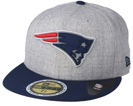 New England Patriots 59Fifty Reflective Heather Grey Fitted - New Era