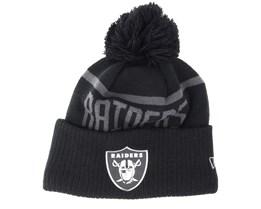 Oakland Raiders Coll Knit Black Beanie - New Era