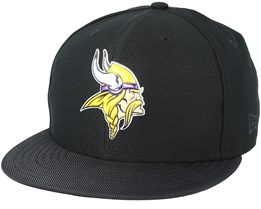 Minnesota Vikings Black Coll 59Fifty Black Fitted - New Era