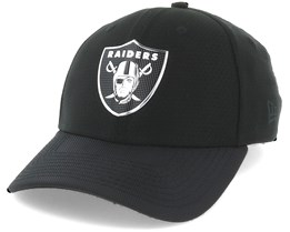 Oakland Raiders Black Coll 39Thirty Black Flexfit - New Era