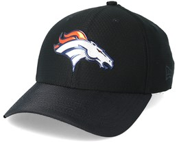 Denver Broncos Black Coll 39Thirty Black Flexfit - New Era
