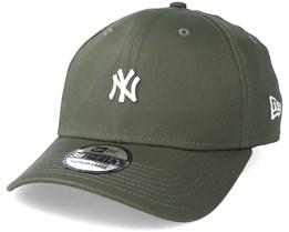 New York Yankees Mini Logo 39Thirty Olive/White Flexfit - New Era