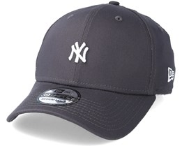 New York Yankees Mini Logo 39Thirty Grey/White Flexfit - New Era
