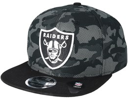 Oakland Raiders Mesh Overlay 9Fifty Camo Snapback - New Era