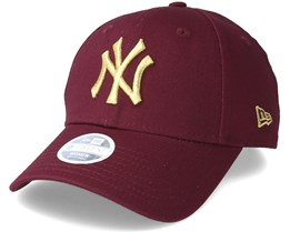 New York Yankees Essential 9Forty Women Maroon/Gold Adjustable - New Era