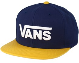 Drop V II Blue/Yellow Snapback - Vans