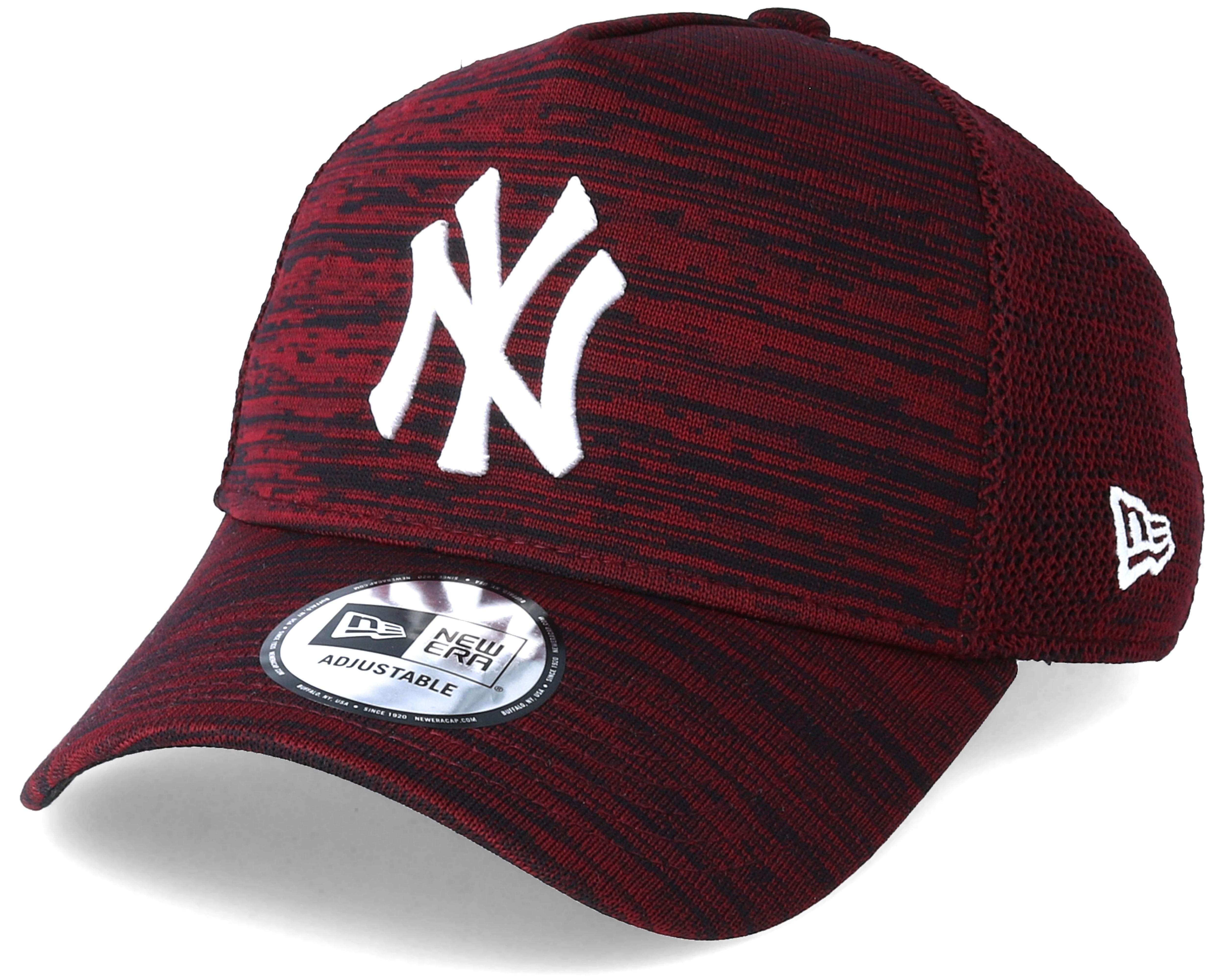 new york yankees aframe engineered fit red adjustable new era cap. Black Bedroom Furniture Sets. Home Design Ideas