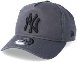 New York Yankees Washed A Frame Grey Adjustable - New Era