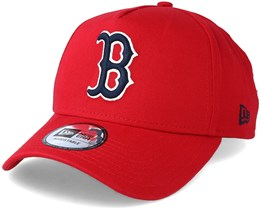 Boston Red Sox Washed A Frame Scarlet Adjustable - New Era