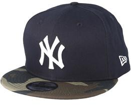 New York Yankees Team 9Fifty Navy/Camo Snapback - New Era