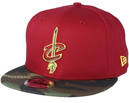 Cleveland Cavaliers Team 9Fifty Cardinal/Camo Snapback - New Era