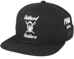 Oakland Raiders Silver And Black Attack 9Fifty Black Snapback - New Era