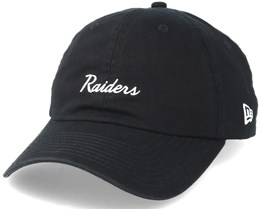 Oakland Raiders Mini Script 9Forty Black Adjustable - New Era