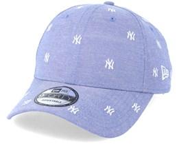 New York Yankees 9Forty Monogram Sky/White Adjustable - New Era