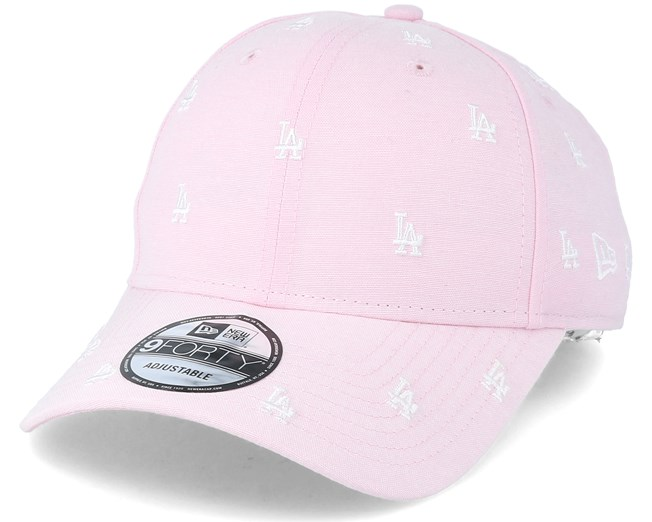 online store a37ff 90b6b ... get los angeles dodgers 9forty monogram pink adjustable new era caps  hatstore 4d08f 54c23