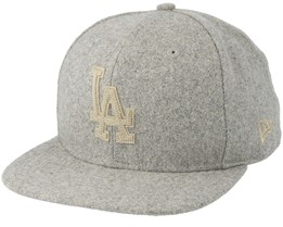 Los Angeles Dodgers Melton 9Fifty Grey Snapback - New Era