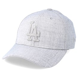 Only 1 left! New Era Los Angeles Dodgers 39Thirty Heather Grey Flexfit ... 2faf63cb7eef
