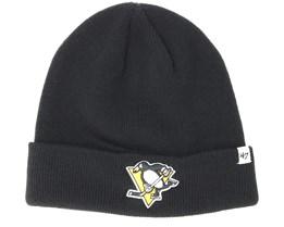 Pittsburgh Penguins Raised Knit Black Cuff - 47 Brand