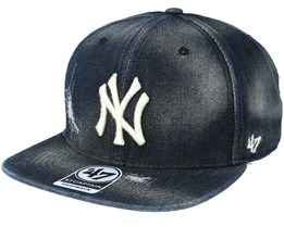 New York Yankees Black Loughlin Snapback - 47 Brand