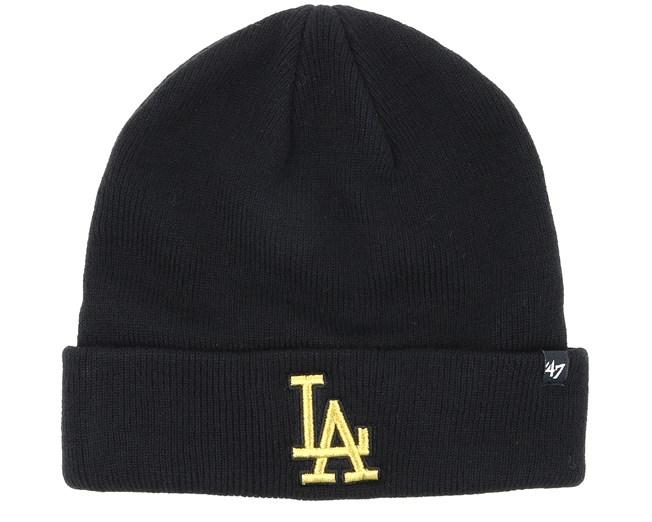 2b9bd099ce7d5 Los Angeles Dodgers Metallic Black Gold Cuff - 47 Brand beanies ...