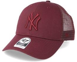 New York Yankees Branson Dark Maroon Trucker - 47 Brand