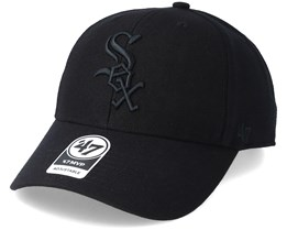 Chicago White Sox Mvp Black/Black Adjustable - 47 Brand