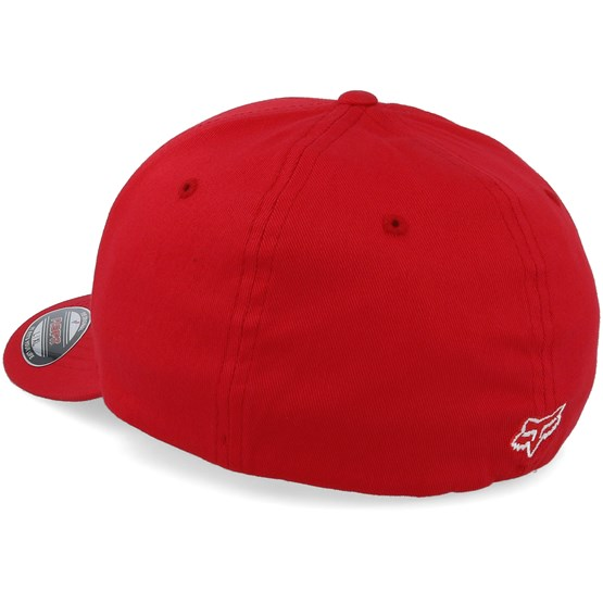 Legacy Dark Red White Flexfit - Fox lippis - Hatstore.fi 1cee923132