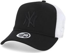 New York Yankees League Essential Women Black/Black Trucker - New Era