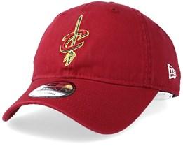 Cleveland Cavaliers Washed Essential 9Twenty Burgundy Adjustable - New Era