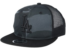Kids Los Angeles Dodgers Washed Mesh Black Camo Trucker - New Era