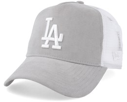 Los Angeles Dodgers Micro Cord A-Frame Grey/White Trucker - New Era