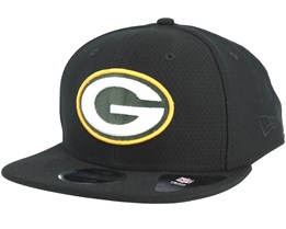 Green Bay Packers Dryera Tech 9Fifty Black Snapback - New Era