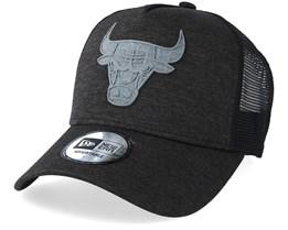 Chicago Bulls Concrete Jursey Black/Grey Trucker - New Era