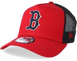 Boston Red Sox Reverse Red/Black Trucker - New Era