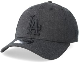 Los Angeles Dodgers 39Thirty Heather Black Flexfit - New Era