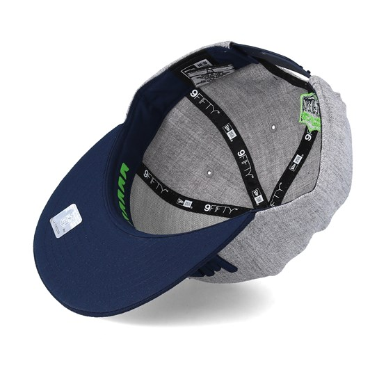 buy online afd69 574fc ... switzerland seattle seahawks 2018 nfl draft on stage grey navy snapback new  era caps hatstore 21ef9