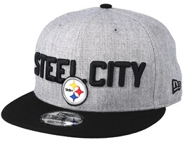 Pittsburgh Steelers 2018 NFL Draft On-Stage Grey/Black Snapback - New Era