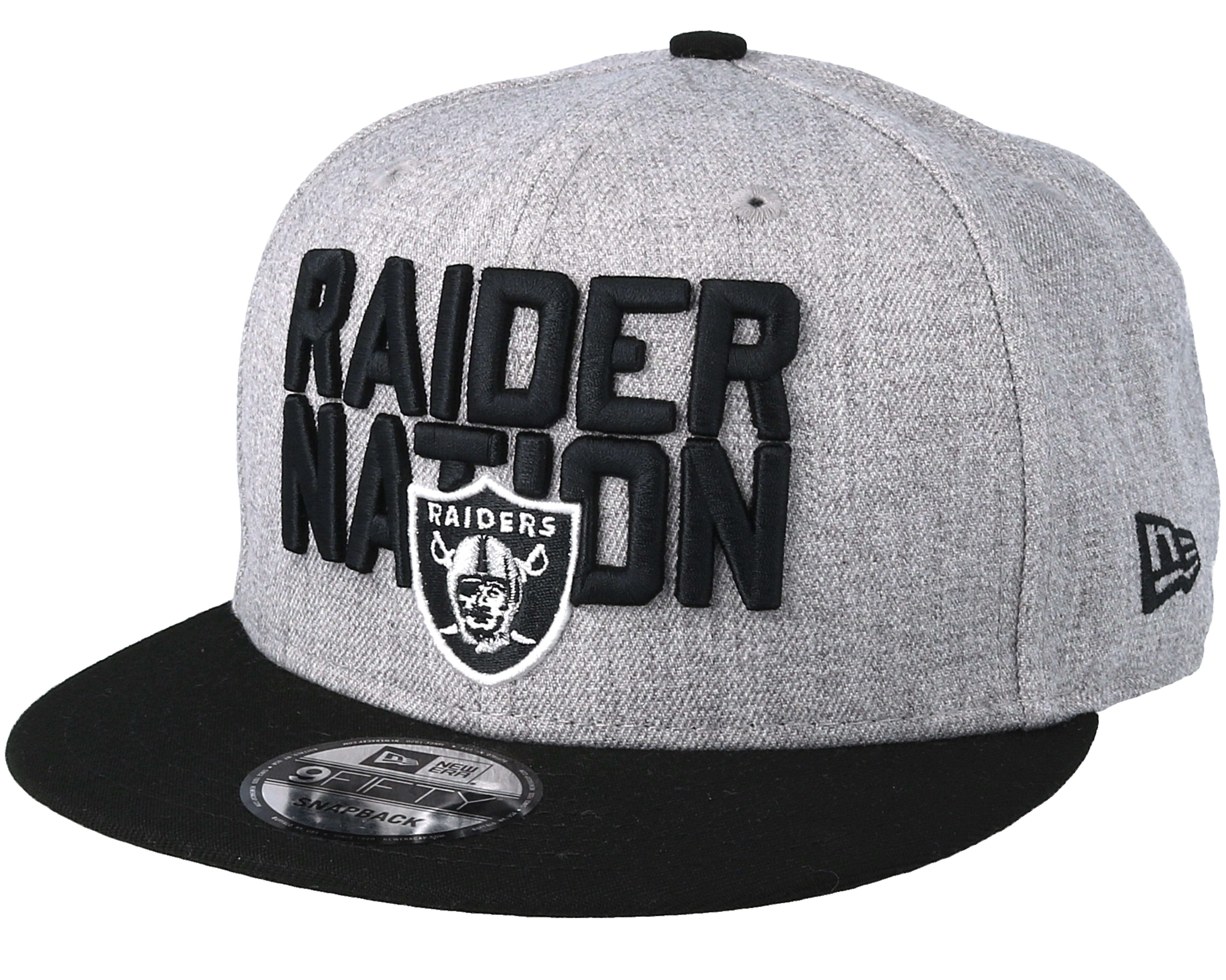 Oakland Raiders 2018 NFL Draft On-Stage Grey Black Snapback - New ... 2c703934e